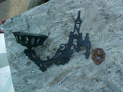 VINTAGE WALL OIL LAMP HOLDER W/BRACKET, old lamp