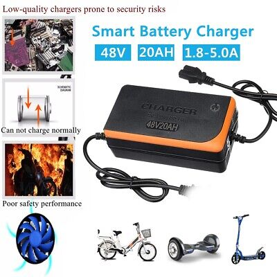 48V 20AH Battery Lead Acid Charger Power Bike Scooter Power Charge 🔥