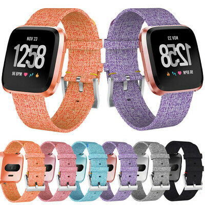 Luxury Woven Fabric Replacement Watch band Wrist Straps For Fitbit Versa Lite ~