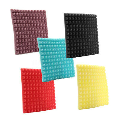 6Pack Acoustic Foam Panels Sound Studio Wedge Soundproofing Wall