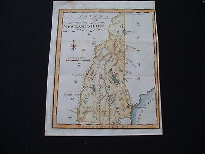1795 Scott Map Colonial State of New Hampshire - One of earliest state maps made