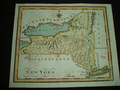 1795 Scott Map Colonial State of New York - One of earliest state maps made