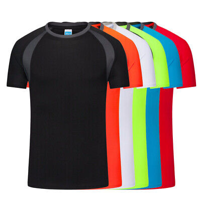 Men Breathable T-Shirt Quick Dry Athletic Running WorkoutTop Short Short Sleeve