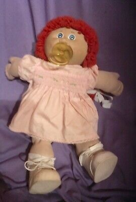 Vintage Coleco .Cabbage Patch  Doll, Red Hair And Dummy  1982 (#B-77);