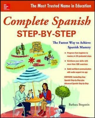 NEW Complete Spanish Step By Step By Bregstein Paperback Free Shipping
