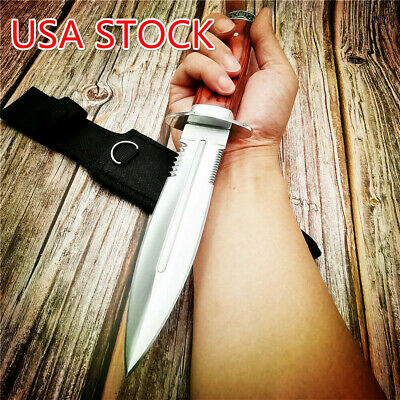 Tactical Dagger Knife Tanto Fixed Blade Hunting Military OUTDOOR RESCUE KNIVES