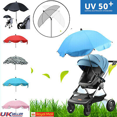 Universal Pram Pushchair Stroller Buggy Umbrella UV Sun Shade Kids Baby Parasol