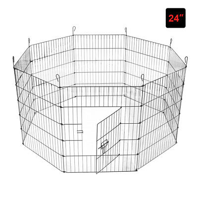 Small Pet Playpen 8 Panel Wire Metal Dog Animal Exercise Fence Enclosure Cage