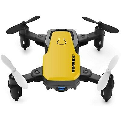 Simrex X300C 8816 Mini Drone with Camera WiFiHD Foldable Altitude Hold - Yellow