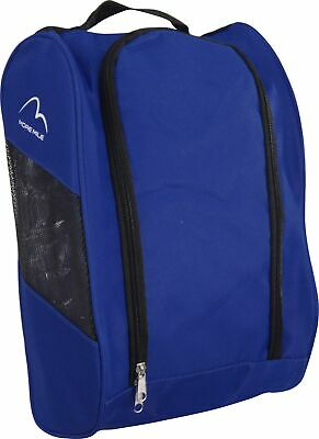 More Mile Boot Bag Blue Double Zip Gym Golf Football Running Sports Shoe Bag