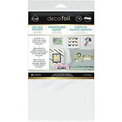 Therm O Web Deco Foil With Hot Melt Adhesive - Ironon Transfer Sheet Pkg Icraft