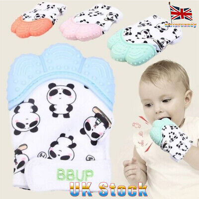 Silicone Baby Teething Mitt Teether Mitten Gloves Chew Toy Molar Candy Wrapper