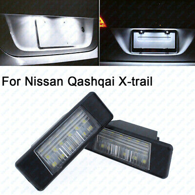 2x 6000K White LED License Plate Number Lights Lamp Canbus For NISSAN X-TRAIL