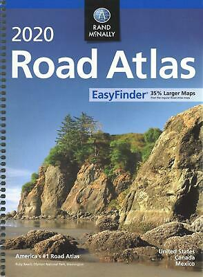 Rand McNally 2020 Road Atlas Midsize Easy Finder - Spiral by Rand McNally (Engli