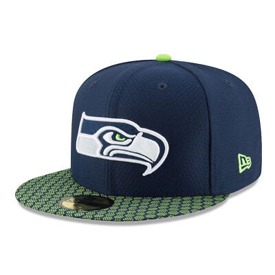 Seattle Seahawks 2017 NFL Sideline 59FIFTY Fitted Cap - 7 1/4