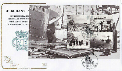 (32175) GB Cotswold FDC Merchant Navy FULL Booklet Pane Royal Mail Street 2013