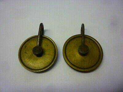 Good Pair Of 18th Century 8 Day Longcase Grandfather Clock Weight Pulleys (7z)