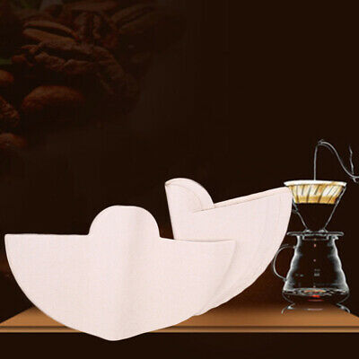 40pcs Fan Shaped Coffee Filter Paper Half-Moon Circles For Chemex CM-1 (1-3Cups)