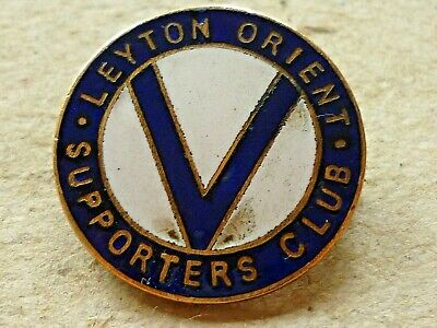 Vintage Football Enamel Badge Leyton Orient Supporters Club Badge