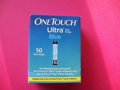 One Touch Ultra Blue Test Strips Unopened Package/50