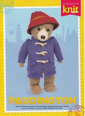 Gorgeous Paddington Bear knitting pattern by Barbara McIntyre - sturdy card