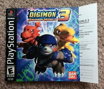 DIGIMON WORLD: DATA Squad Replacement PS2 Cover and Case  NO