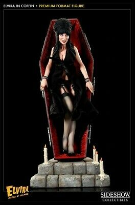 NEW Elvira in Coffin Premium Format Figure by Sideshow