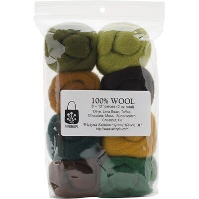 Roving 100% Wool Ast Woodsy - Oz Pkg Wistyria Editions Pieces Total Per Pack