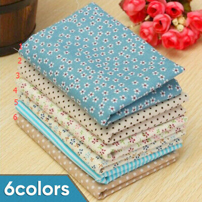 50*50cm Patchwork 25*25cm Fabric Cotton Sewing Quilting Cloth 6x Craft