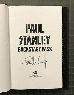 Paul Stanley Signed BACKSTAGE PASS Hardcover Book Autographed KISS Auction #2