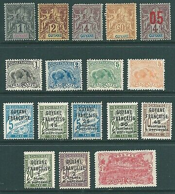 FRENCH GUYANA mint stamp collection 1892 onwards
