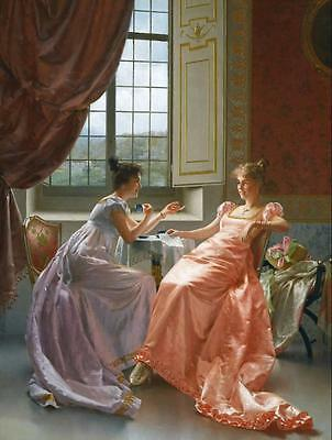 Art Print Court Ladies Oil painting Giclee Printed on canvas 16X20 Inch P057
