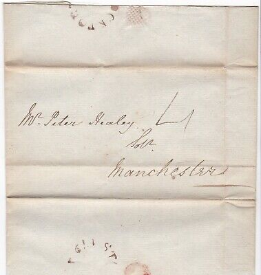 # 1817 Udc Stockport Mileage Pmk John Baddeley Letter To Peter Healey Manchester
