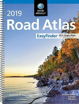 Rand Mcnally USA Road Atlas BEST Large Scale Travel Maps United States NEW 2019