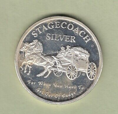 1oz .999 Silver Stagecoach Fractional Round