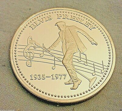 ELVIS PRESLEY Silver Coin King of Rock & Roll Signed 1935 1977 Legend Las Vegas