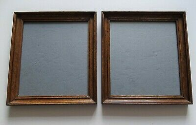 A Pair Of Antique Oak Picture/Photo Frame