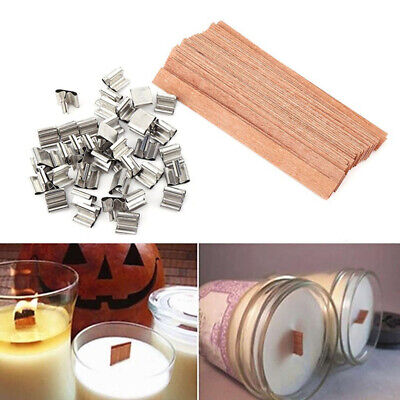 Square Stand Alloy Wooden Wick Wax Candle Core Candlestick Sustainer Tabs