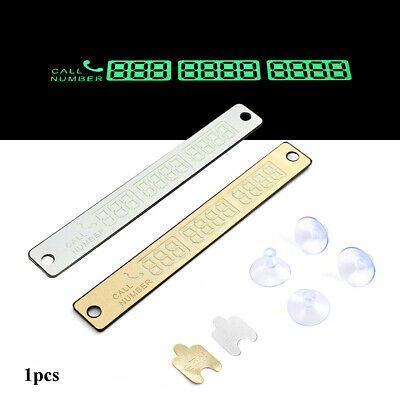 Temporary Parking Card  Phone Number Plate  Parking plate Car Styling Sticker