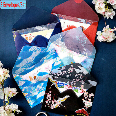 New Cute Cartoon Floral Printed Acid Paper Chinese Style Bronzing Envelopes