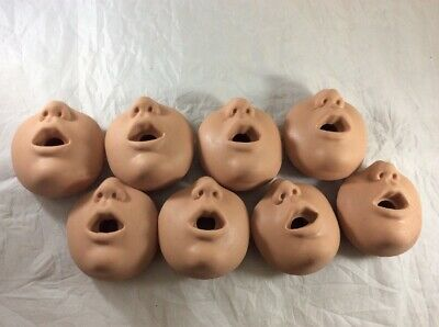 NEW 8x Simulaids CPR Manikin Kevin Baby Infant Replacement Face Mouth Nose Piece
