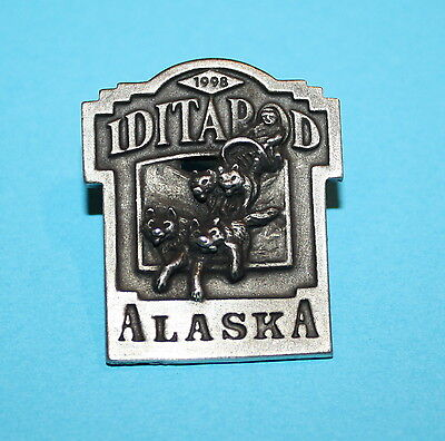 1998 Alaska's Iditarod The Last Great Race On Earth Pewter Pin Pinback