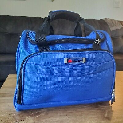 Delsey Carry On Duffel Weekender Overnight Bag Blue Travel Bag Duffle