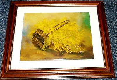 Oilagraph by Didier Jouilano French Basket of Maybe Mimosa? Super Artistry