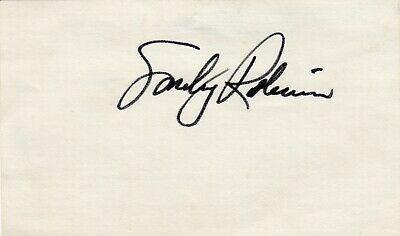 """Smokey"" Robinson auto'd 3X5 index card-Singer/Producer/Songwriter -The Miracles"