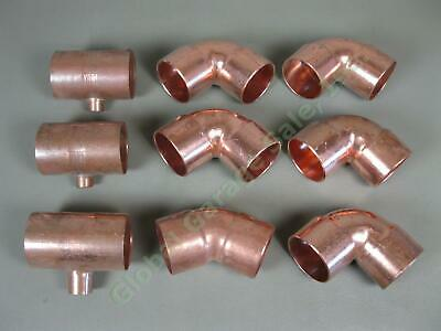"Brand NEW Nipco 2"" 1/2 3/4 inch Copper Sweat Elbow Fitting 90 T 45 Lot Set NR"