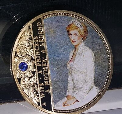 Princess Diana Gold Coin Autographed Charlotte Prince Archie Louis Gran Mother