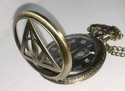 Harry Potter Lord Voldemort Pocket Watch Necklace Mens Sci-Fi Wizzard Clock Nice