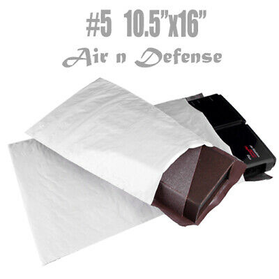 """15 #5 POLY BUBBLE PADDED ENVELOPES PACKING BAG MAILERS 10.5"""" x16"""" SELF SEAL TH"""