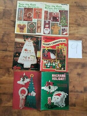 lot Twas the Knot Before Christmas MACRAME patterns Holiday ornaments Tree skirt